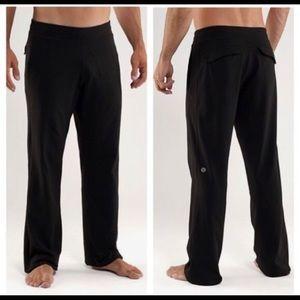 Lululemon Black Kung Fu pants L A5